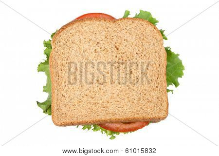 Sandwich, cutout on white background