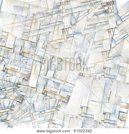 Abstract Art Reminiscent of City Blocks