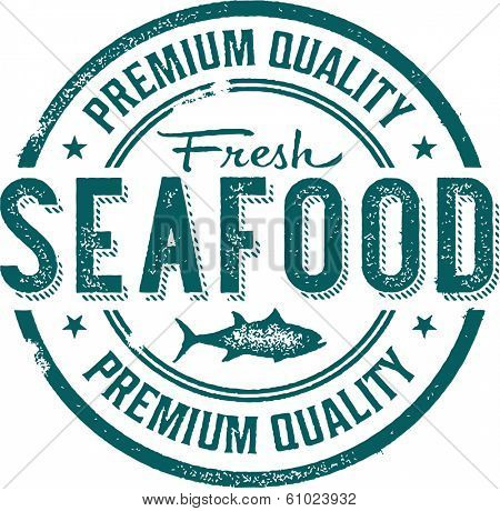 Premium Quality Fresh Seafood Stamp