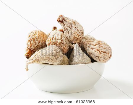 bowl with portion of sugared figs