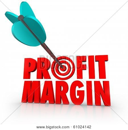 Profit Margin Arrow Target Aiming for More Earnings Money Making