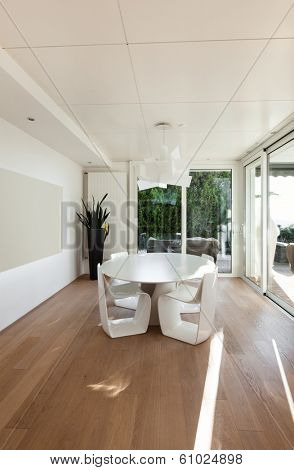 beautiful interiors of a modern house, dining room