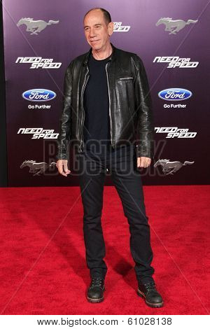 LOS ANGELES - MAR 6: Miguel Ferrer at the premiere of DreamWorks Pictures' 'Need For Speed' at TCL Chinese Theater on March 6, 2014 in Los Angeles, California