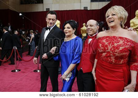 LOS ANGELES - MAR 2:: Liza Minelli, Lorna Luft  at the 86th Annual Academy Awards at Hollywood & Highland Center on March 2, 2014 in Los Angeles, California