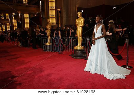 LOS ANGELES - MAR 2:: Lupita Nyong'o  at the 86th Annual Academy Awards at Hollywood & Highland Center on March 2, 2014 in Los Angeles, California