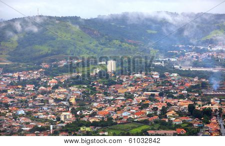 Sao Roque Brazilian town in the middle of hills