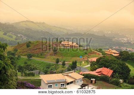 Scenic Brazilian hill resort town