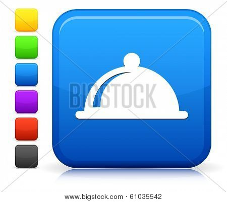 Platter Icon on Square Internet Button Collection