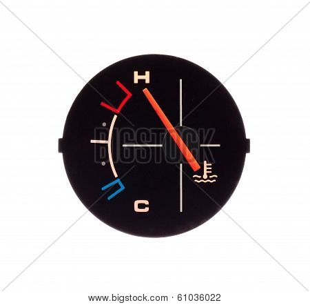 Temperature Guage Of A Motorbike