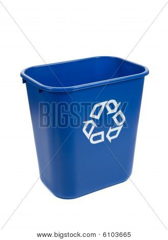 Recylce Bin On A White Background