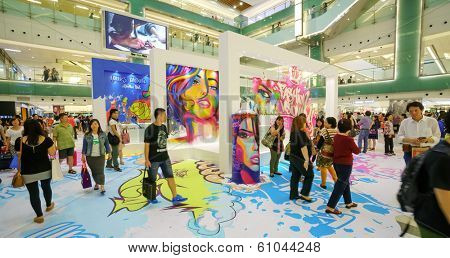 HONGKONG - SEPTEMBER 28: shopping store interior on September 28, 2013 in Hongkong, China. Hong Kong has many nicknames, but the most famous is