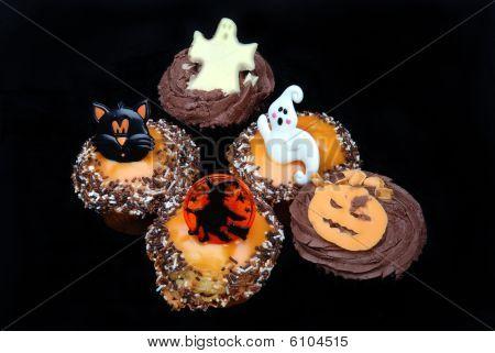 Halloween Cakes On Black