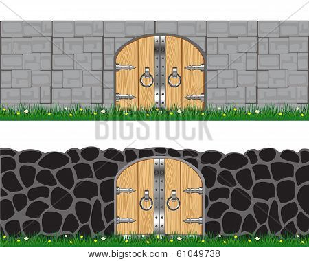 Two walls and gates