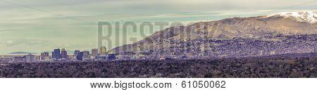 Panorama Of Downtown Salt Lake City Utah