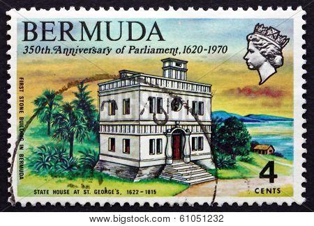 Postage Stamp Bermuda 1970 State House, St. George's
