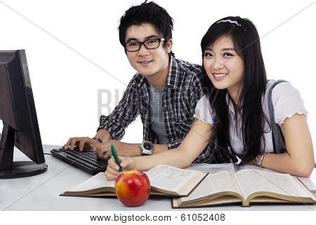 Asian Students Studying