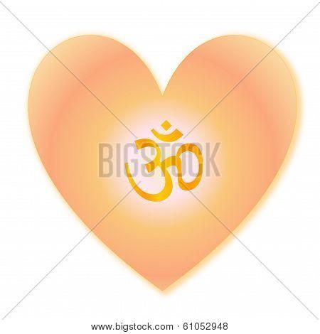 Aum in heart