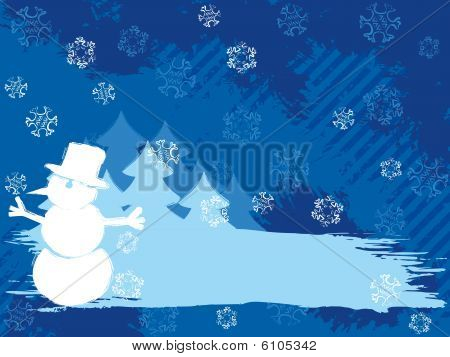 Horizontal  grungy winter background in dark colors