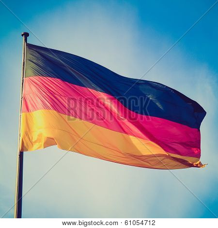 Retro Look German Flag