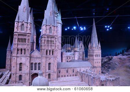 Scale model of Hogwarts castle, Warner Bros studio, London