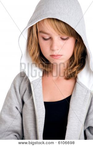Thinking Over My Sins In Hooded Sweater