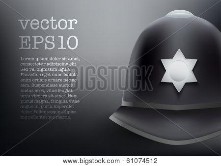 helmet of British police vector background