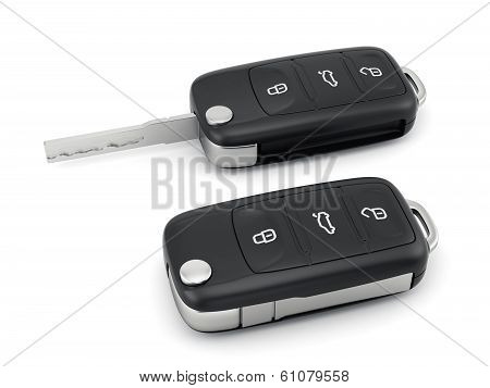 Car Key Isolated