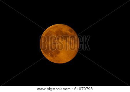 An Orange Harvest Moon As Seen In Full