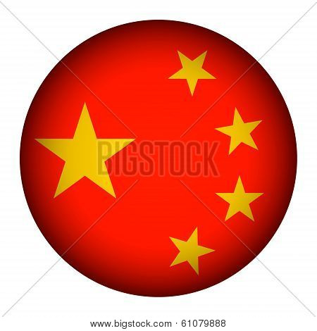 China Flag Button.