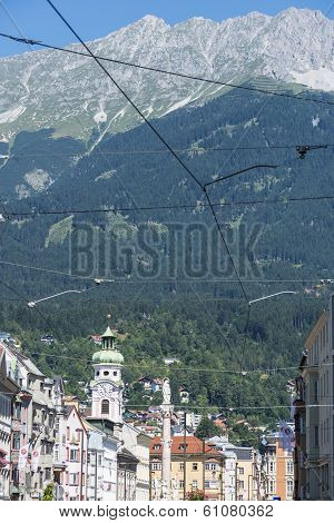 Maria Theresien Street In Innsbruck, Austria.