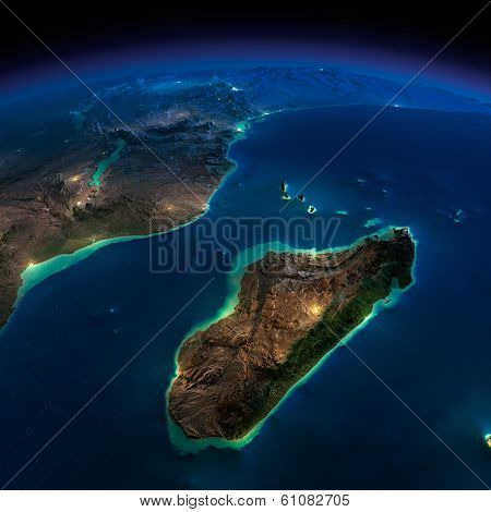 Night Earth. Africa And Madagascar