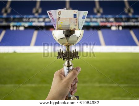 More Euros More Titles With The Background Of A Stadium