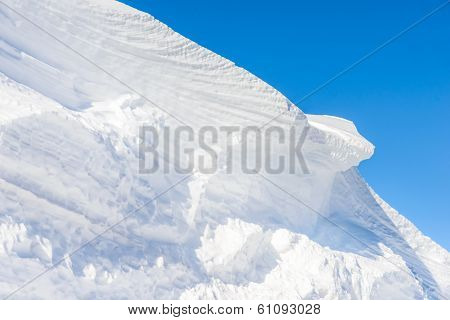 Big Snow Hummock Of Pure White Snow Made ??wind