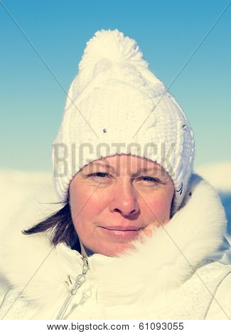 Middle-aged Skier