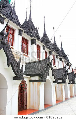 Iron Temple Loha Prasat In Wat Ratchanatdaram Worawihan, Bangkok, Thailand