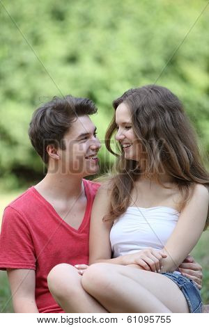 Romantic Happy Young Teenage Couple