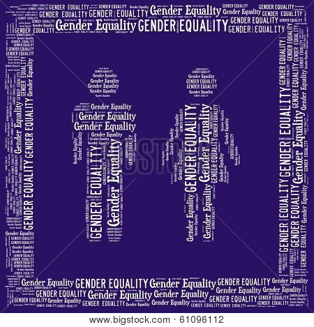 Gender equality in word collage