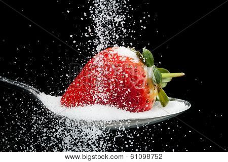 Sweet Strawberry With Sugar Granules