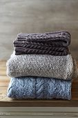 picture of leg warmer  - Still Life with Wool Sweaters and Leg Warmers - JPG