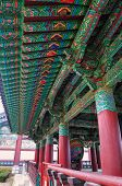 picture of seoul south korea  - The ornate architecture of Bongeunsa Temple in Seoul South Korea - JPG