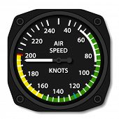 vector aviation aircraft airspeed indicator