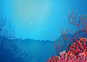 pic of underworld  - Illustration of the beautiful corals under the sea - JPG