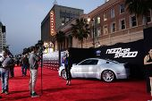 LOS ANGELES - MAR 6: Atmosphere at the premiere of DreamWorks Pictures' 'Need For Speed' at TCL Chin