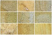 Twelve Natural Limestone Background Or Textures