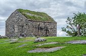 picture of galway  - Stone Church in Cemetery Spiddal County Galway Galway Ireland - JPG