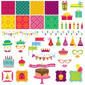 stock photo of birthday hat  - Scrapbook Design Elements  - JPG