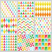 Geometric Background Collection - seamless patterns for design and scrapbook - in vector