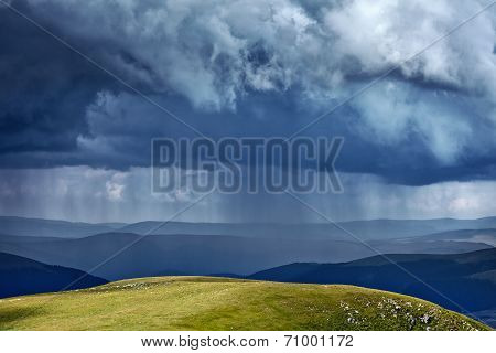 Heavy Rain In Mountains