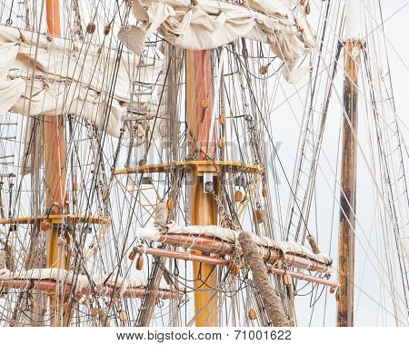 Old Sail And Old Ship Masts