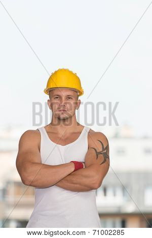 Portrait Of A Young Confident Worker